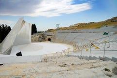 Amphitheater Syrakus, Sizilien stockfotografie