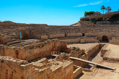 Amphitheater in Tarragona, Spain Royalty Free Stock Photo