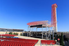 Amphitheater and Tower. The Amphitheater and tower at COTA The Circuit of the Americas race track in Austin, TX Royalty Free Stock Photography