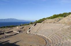 amphitheater troy Turkije stock foto