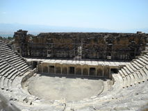 Amphitheater. In the Turkey country are opened for tourists Royalty Free Stock Images