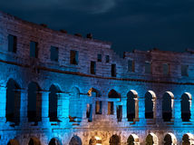 Amphitheater under lights Royalty Free Stock Photos