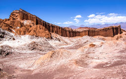 The Amphitheater in the Valle de la Luna Royalty Free Stock Image