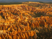 Amphitheater, view from Inspiration point at sunrise, Bryce Canyon National Park. Utah, USA royalty free stock image
