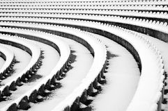 Amphitheater was buried in snow Stock Photos