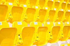 Amphitheater of yellow seats Stock Photography