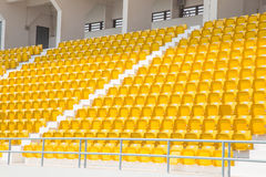 Amphitheater of yellow seats Royalty Free Stock Photography