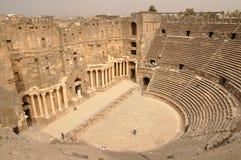 amphitheaterbosra syria Royaltyfria Bilder