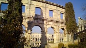 amphitheatercroatia pula Arkivbild