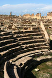 amphitheatercyrene små libya royaltyfri bild