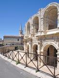 Amphitheateren av arles i Provence Arkivbilder