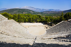 amphitheaterepidaurusen greece fördärvar Royaltyfri Bild
