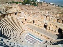amphitheaterjerash jordan Royaltyfri Bild