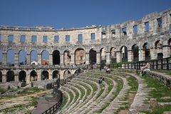 Pula amphitheatre , Croatia Royalty Free Stock Photography