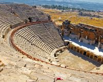 Amphitheatre. Photo of rows of seats and stairway, ancient open amphitheatre Royalty Free Stock Photos