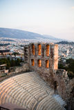 Amphitheatre in Acropolis, Athens Greece Royalty Free Stock Photography