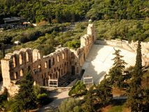 Amphitheatre Amphitheater Athens Aerial Royalty Free Stock Image
