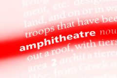 Amphitheatre. Word in a dictionary.  concept Royalty Free Stock Photography