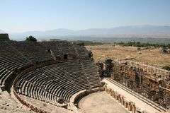 Amphitheatre of ancient Hierapolis Stock Image