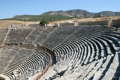 Amphitheatre of ancient Hierapolis Royalty Free Stock Photo