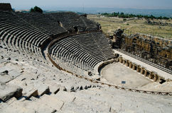 Amphitheatre in Ancient Hierapolis. Ancient Greek Amphitheater in Hierapolis, now in Turkey Stock Images