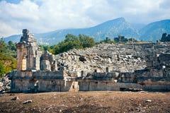 Amphitheatre antigo em Tlos imagens de stock royalty free