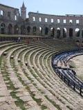 Amphitheatre antigo nos Pula fotografia de stock