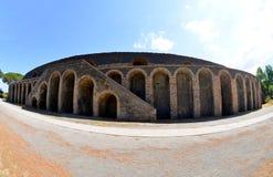 Amphitheatre antyczny rzymski miasteczko Pompeii, Włochy fotografia royalty free