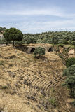 Amphitheatre and aqueductl of Nysa Ancient City in Aydin, Turkey Stock Photography