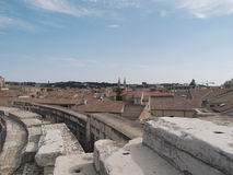 Amphitheatre Arles. Arles Roman Amphitheater, view of the arena Royalty Free Stock Images