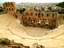 Amphitheatre in Athens. Beautiful ruins of an amphitheatre in Athens stock photography