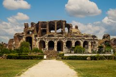 Amphitheatre of Capua in southern Italy stock image