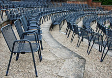 Amphitheatre with chairs Royalty Free Stock Photos