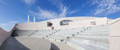 Amphitheatre of the Champalimaud Foundation - Centre for the Unknown. Royalty Free Stock Photos