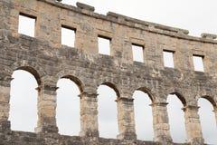 amphitheatre ściana Zdjęcie Royalty Free
