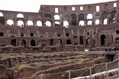 Amphitheatre of the Coliseum in Rome, Italy Stock Photography