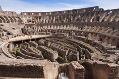Amphitheatre of the Coliseum in Rome, Italy Royalty Free Stock Images