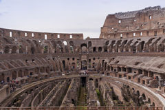 Amphitheatre of the Coliseum in Rome, Italy Stock Photos