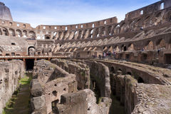 Amphitheatre of the Coliseum in Rome, Italy Royalty Free Stock Photo