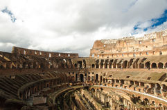 Amphitheatre of The Colosseum or Coliseum Royalty Free Stock Images