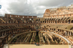 Amphitheatre of The Colosseum or Coliseum Royalty Free Stock Photo