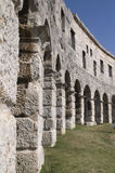 Amphitheatre in Croatia, Pula. One of the biggest ancient Roman arenas. Croatia, Pula Stock Photo