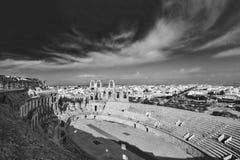 Amphitheatre d'EL Djem en Tunisie Images stock