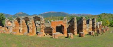 Amphitheatre de Amiternum Imágenes de archivo libres de regalías