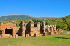 Amphitheatre de Amiternum Imagen de archivo libre de regalías