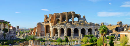 Amphitheatre de Capua Image stock