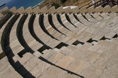 Amphitheatre de Curion. La Chypre Photos stock