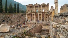 Amphitheatre de Ephesus en Selcuk, provincia Turquía de Esmirna almacen de metraje de vídeo