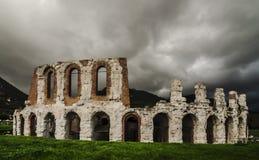 Amphitheatre de Gubbio fotografia de stock royalty free
