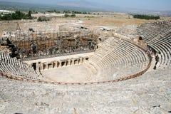 Amphitheatre de Hierapolis antigo foto de stock royalty free